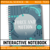 Force and Motion Science Interactive Notebook - Distance Learning