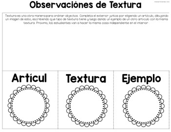 Science Interactive Notebook - Part 1a (SPANISH)