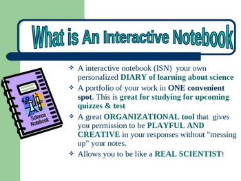 Science Interactive Notebook Presentation