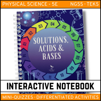 Solutions, Acids and Bases: Physical Science Interactive Notebook