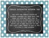Science Interactive Notebook Tabs
