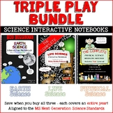 Science Interactive Notebook - Triple Play Bundle - Earth, Life & Physical INB