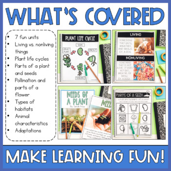 Science Interactive Notebook Bundle and Activities: Plants and Animals