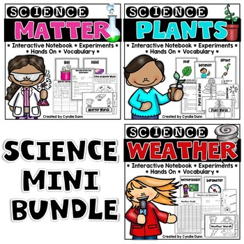 Science Interactive Notebook Activites: Matter, Plants, and Weather