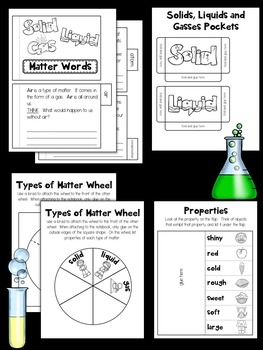 Matter Interactive Notebook and Experiments