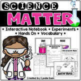 Matter Interactive Notebook and Activities: Solids, Liquid