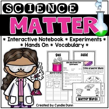Matter Interactive Notebook and Activities: Solids, Liquid
