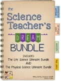 Science Interactive Notebooks - LIFE & PHYSICAL + Task Cards - The DREAM BUNDLE