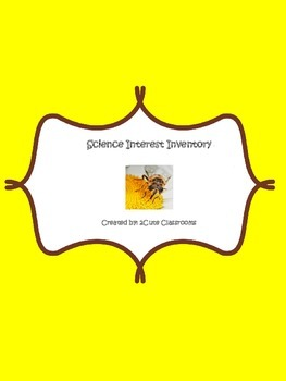 Science Interest Inventory Quiz and Pre-test