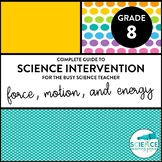 Science Intervention for the Busy Science Teacher - Force,