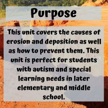 Erosion and Deposition Unit for Special Education