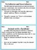 Science Invertebrate and Vertebrates Morning Work/Activities/Prompts