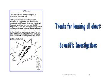 Science Investigation Booklet