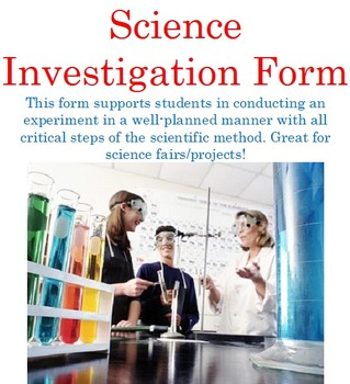 Science Investigation Form