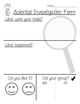 Science Investigation Form
