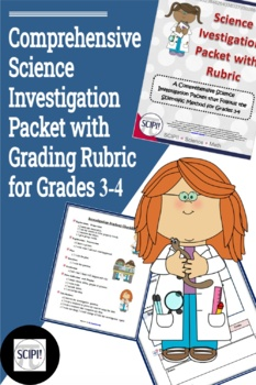 Science Investigation Packet with Grading Rubric for Grades 3-4