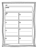 Science Investigation Planning Sheet
