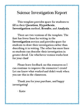 Science Investigation Report