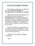Science Investigation Report