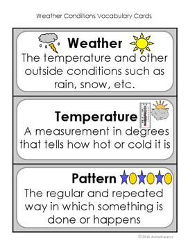 Science Investigation: Weather Conditions
