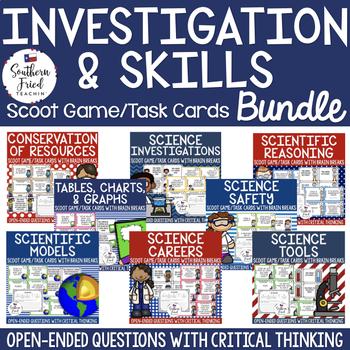 Science Investigation & Skills Scoot Games/Task Cards BUNDLE