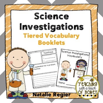 Science Investigations Tiered Vocabulary Booklets