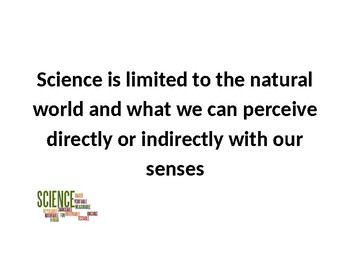 Science Is Limited to the Natural World Poster