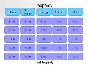 Science Jeopardy