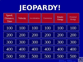 Science Jeopardy BUNDLE - Includes Chemistry, Biology, and Physics