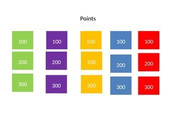 Science Jeopardy-Power point