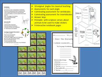 Vertebrates and Invertebrates Science Jingles for Classical Teaching