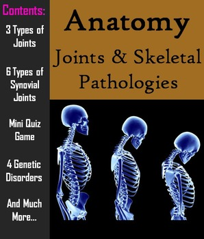 Joints & Pathology of the Skeletal System PowerPoint & Worksheet - Science