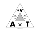 Science Journal: Acceleration Triangle Clipart