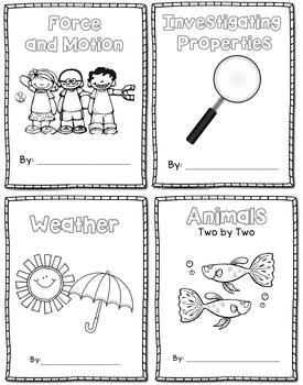 Science Journal Bundle - Force & Motion, Properties, Weather, Animals
