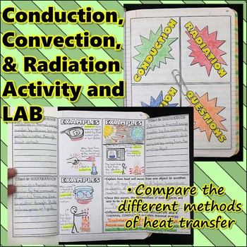 Science Journal: Conduction, Convection, and Radiation Journal Activity and Lab