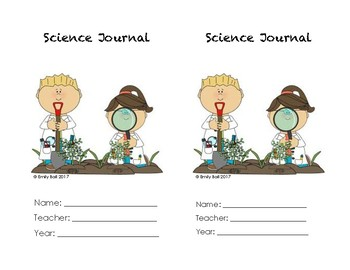 Science Journal Cover and Table of Contents