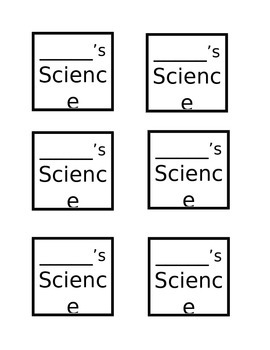 Science Journal Covers (for student notebooks) FREE-EDITABLE!