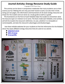 Science Journal: Energy Resource Research Activity