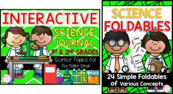 Interactive Science Journal & Foldable Bundle {1st/2nd} ENTIRE YEAR