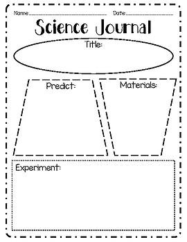 Science Journal Graphic Organizer