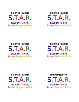 Science Journal Label