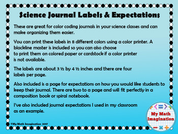 Science Journal Labels and Expectations