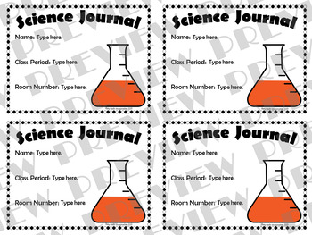 Editable Science Journal Labels and Expectations