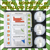 Science Journal: Metal, Nonmetal, and Metalloid Card Sort