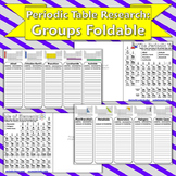 Science Journal: Periodic Table Research for Groups Foldable