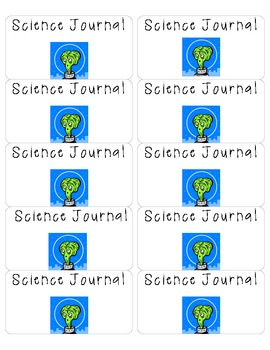 Science Journal Printable Labels- Alien themed
