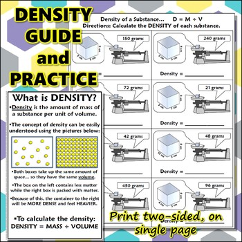 Science Journal: Quick Density Guide and Practice