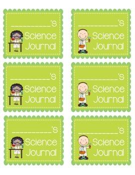 Science Journal & Science Folder Labels