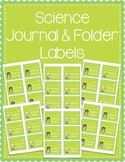 Science Journal & Science Folder Labels