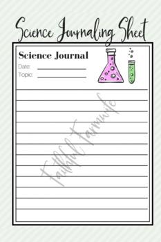 Science Journal Sheet